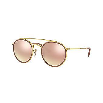 راي بان RB3647N 001/7O الذهب / البني التدرج الوردي مرآة النظارات الشمسية