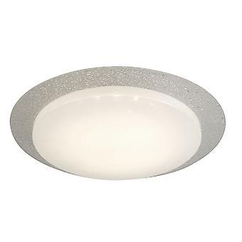 Searchlight Flush Integrated LED 1 Light Flush Ceiling Light White Glass Shade 1071-36