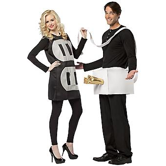 Plug And Socket Shocking Electric Funny Couples Adult Mens Womens Costume OS