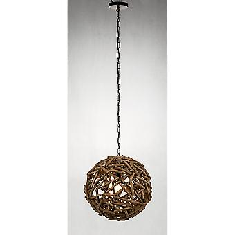 "Modern Home Nautical Driftwood Ceiling Pendant Light - 16"" Diameter"