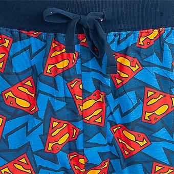 Superman Mens Logo Lounge Bottoms