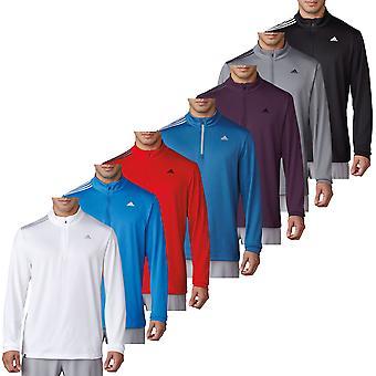 Adidas Golf Herre 3-Stripes fransk frotté pullover