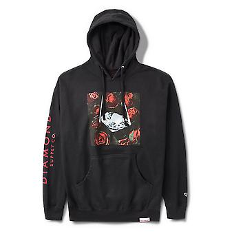 Diamond Supply Co Rose Diamond Pull over Hoodie Noir