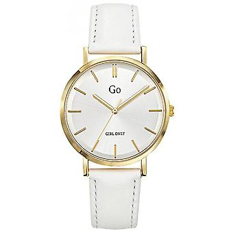 Watch Go Girl Only 699294 - Steel Box Dor White Leather Bracelet White Women