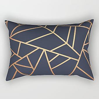 Abstract copper lines rectangle pillow