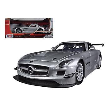 Mercedes Sls Amg Gt3 Silver 1/24 Diecast Car Model By Motormax