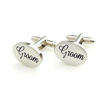 Silver Groom Cuffflinks Wedding Bride Party Friend Oval Cufflink Tuxedo Suit Shirt UKn Cuffflinks Wedding Party Friend Oval Cufflink Tuxedo Suit Shirt UK