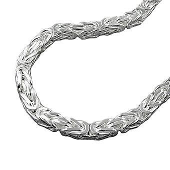 Collier carré glacé argent 925 6 mm King chaîne 60 cm