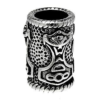 Beard bead thorshammer 5 mm - stainless steel