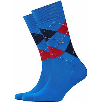 Burlington Manchester Socks - Bleu/Rouge/Noir