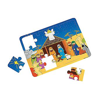 SALE - 12 Individually Packed Foam Christian Christmas Nativity Puzzles