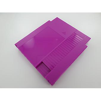 Cartridge shell for nes nintendo compatible game case replacement - purple | zedlabz