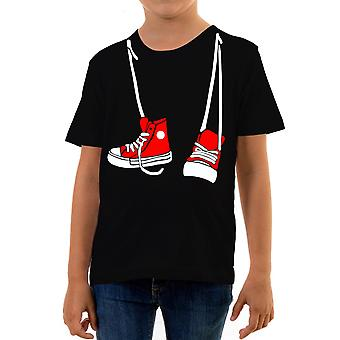 Reality glitch hanging trainers kids t-shirt