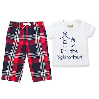 I'm The Big Brother Tartan Trouser Pyjamas