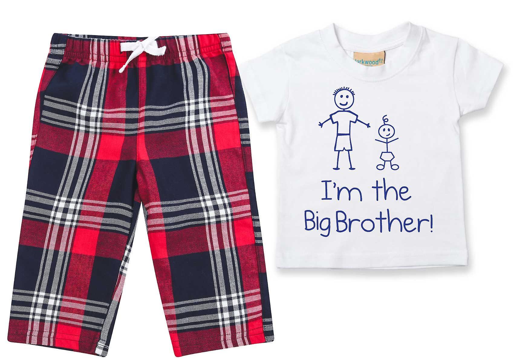 I'm The Big Brother Tartan Trouser Pyjamas