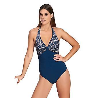 Opera 62015-26 Women's Blue Animal Blue Swimsuit
