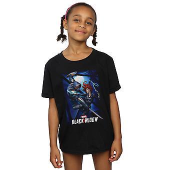 Marvel Girls Black Widow Movie Bridge camiseta de batalla
