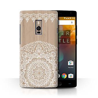 STUFF4 Case/Cover for OnePlus 2/Two/Bamboo Mandala/Fine Lace Wood