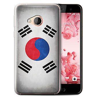 STUFF4 Gel TPU Case/Cover for HTC U Play/Alpine/Korea/Korean/Flags