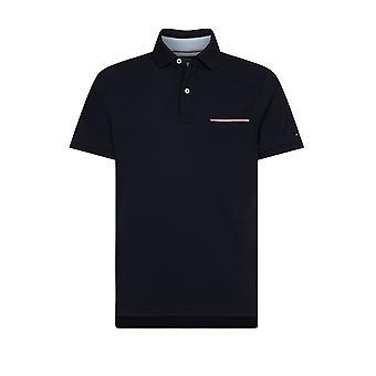 Tommy Hilfiger Pocket Detail Slim Fit Polo Shirt Desert Sky