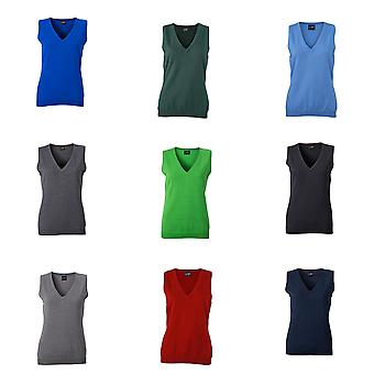 James and Nicholson Womens/Ladies V-Neck Sweater Vest