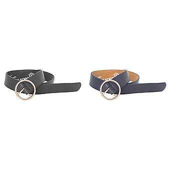 Forest Womens/Ladies Circle Buckle Leather Belt