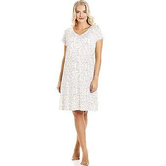 Camille Womens Fern Short Sleeved NightDress