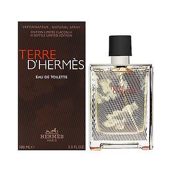 Terre d'hermes av hermes för män 3.3 oz eau de toilette spray h bottle limited edition 2018
