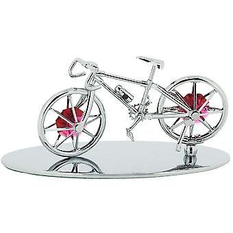 Crystocraft Freestanding Silver Plated Bicycle Made For Two Ornament Made with With Swarovski Crystals