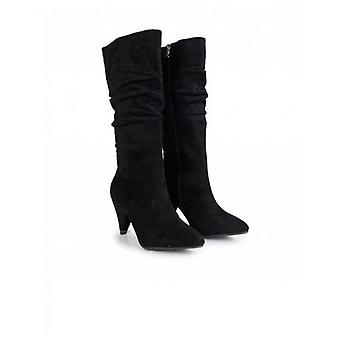 Xti Suedette Slouchy Calf Boots