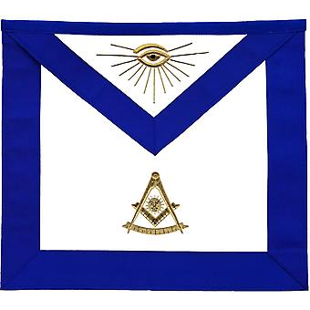 Masonic lodge past master apron golden bullion hand embroidered