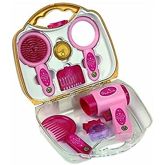 Theo Klein Princess Coralie Small Hairstyling Case with Hairdryer, Brush, Comb