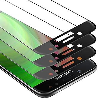 Cadorabo 3x Full Screen Tank Foil for Samsung Galaxy J3 PRO / J330F - 3 Pack Tempered Display Protective Glass in 9H Hardness with 3D Touch