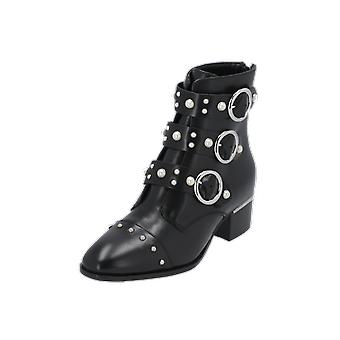 Bronx 47071-A Women's Boots Black Lace-Up Boots Winter