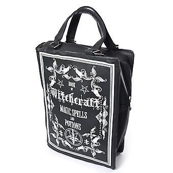 Poizen - witchcraft spellbook - book shaped bag - black