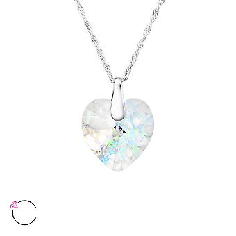 Hjerte krystal fra Swarovski® - 925 Sterling sølv halskæder - W27744x