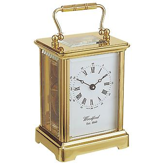 Woodford Obis 8 Day Movement Brass Carriage Clock - Gold