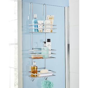 3 Tier Non Rust Hanging Shower Caddy Bathroom Organiser in Silver