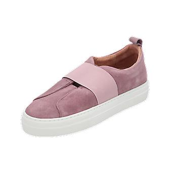 Pieces PSPAULINA SUEDE ELASTIC Women's Loafer Purple Slip-Ons Business Shoes