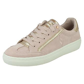 Dames Skechers Lace Up Casual Trainers Pop Shine 74298