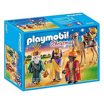 Playset Navidad Playmobil 9497 Tres reyes (13 Pcs)