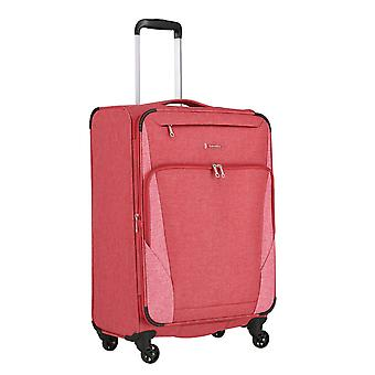travelite Jakku Trolley M, 4 rollen, 67 cm, 64 L, rood