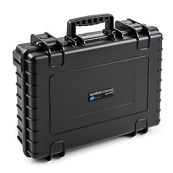 B&W Outdoor Case Typ 6040, Würfelschaum, Schwarz