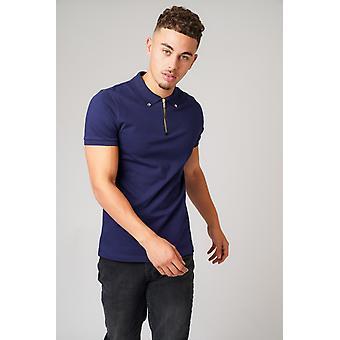Don zip navy polo t-shirt