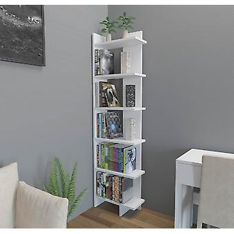 Libreria Alis Colore Bianco Lucido in Truciolare Melaminico, L45xP22xA170 cm