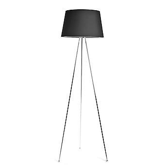 LAMPADA da Terra Tripod Floor Color Cromo, Antracite in Metallo, Cotone 50x50x165 cm