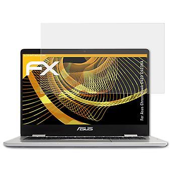 atFoliX 2x Screen Protector compatibel met Asus Chromebook C423 C423NA Screen Protection Film duidelijk