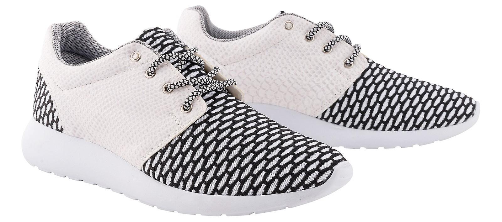 Tamboga Mens Trainers Snakeskin-look Sneakers Flat Oxfords