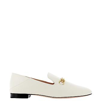 Bally 6235155 Women's White Leather Loafers