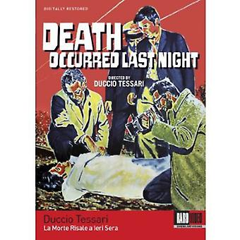 Death Occurred Last Night [BLU-RAY] USA import